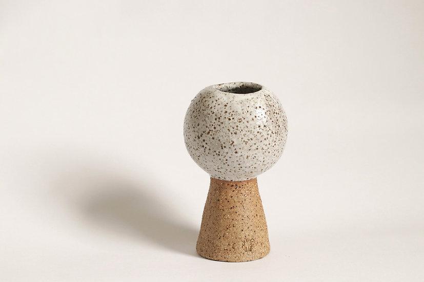Speckled orb vase