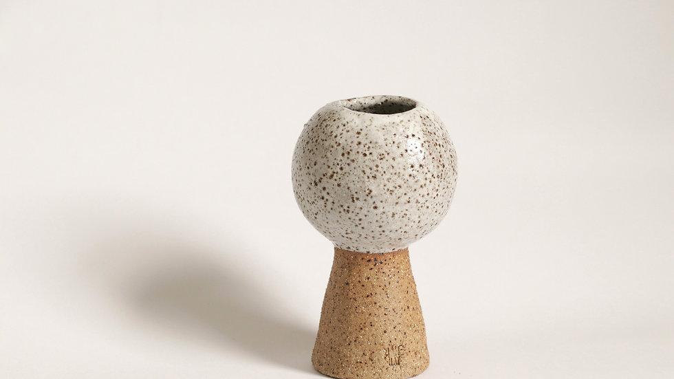 Speckled orb sculpture