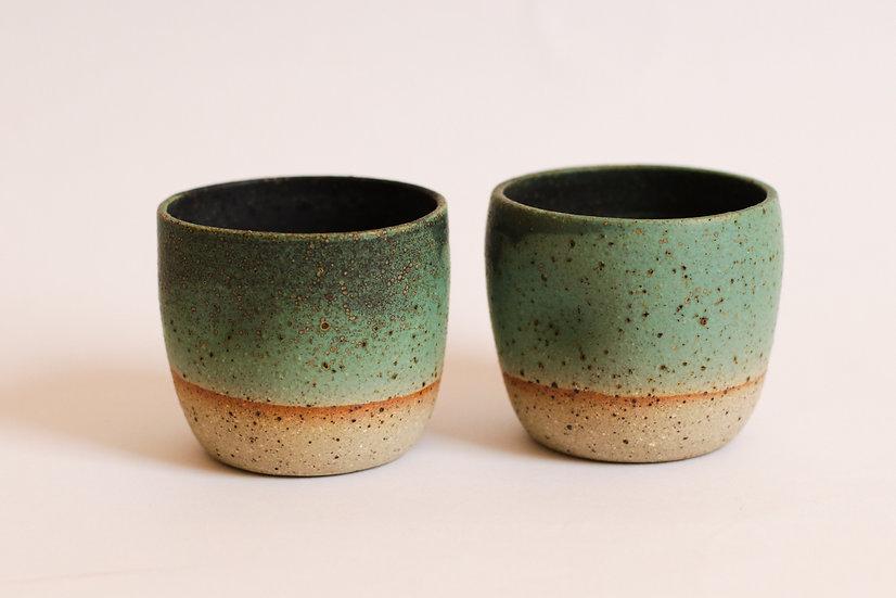 Green glaze cup