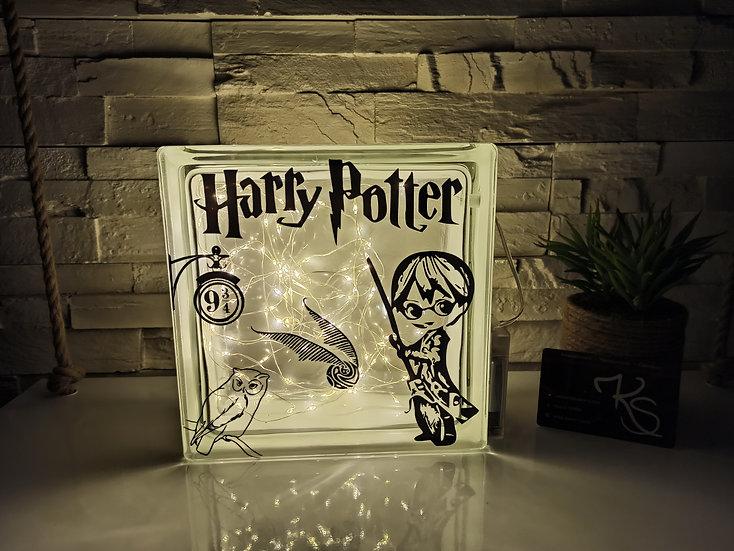 Lampe verre Harry potter