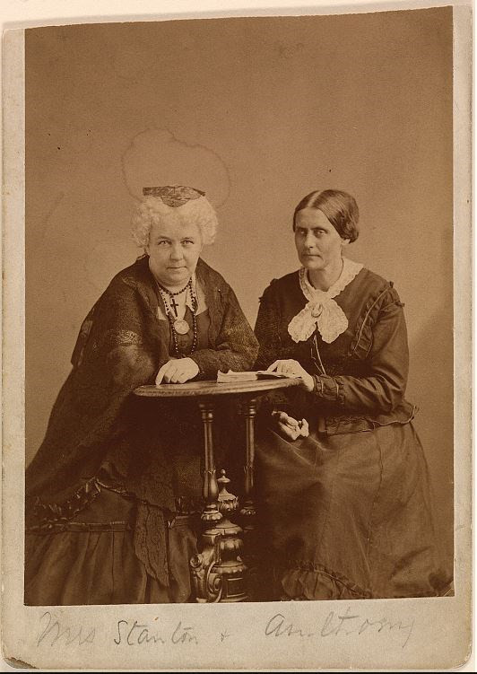 Elizabeth Cady Stanton and Susan B. Anthony by Napoleon Sarony, ca. 1870