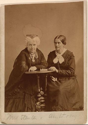 Elizabeth Cady Stanton and Susan B. Anthony by Napoleon Sarony, ca. 1870