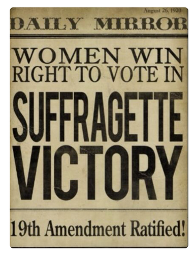 Women Win Right to Vote, Daily Mirror, 1920