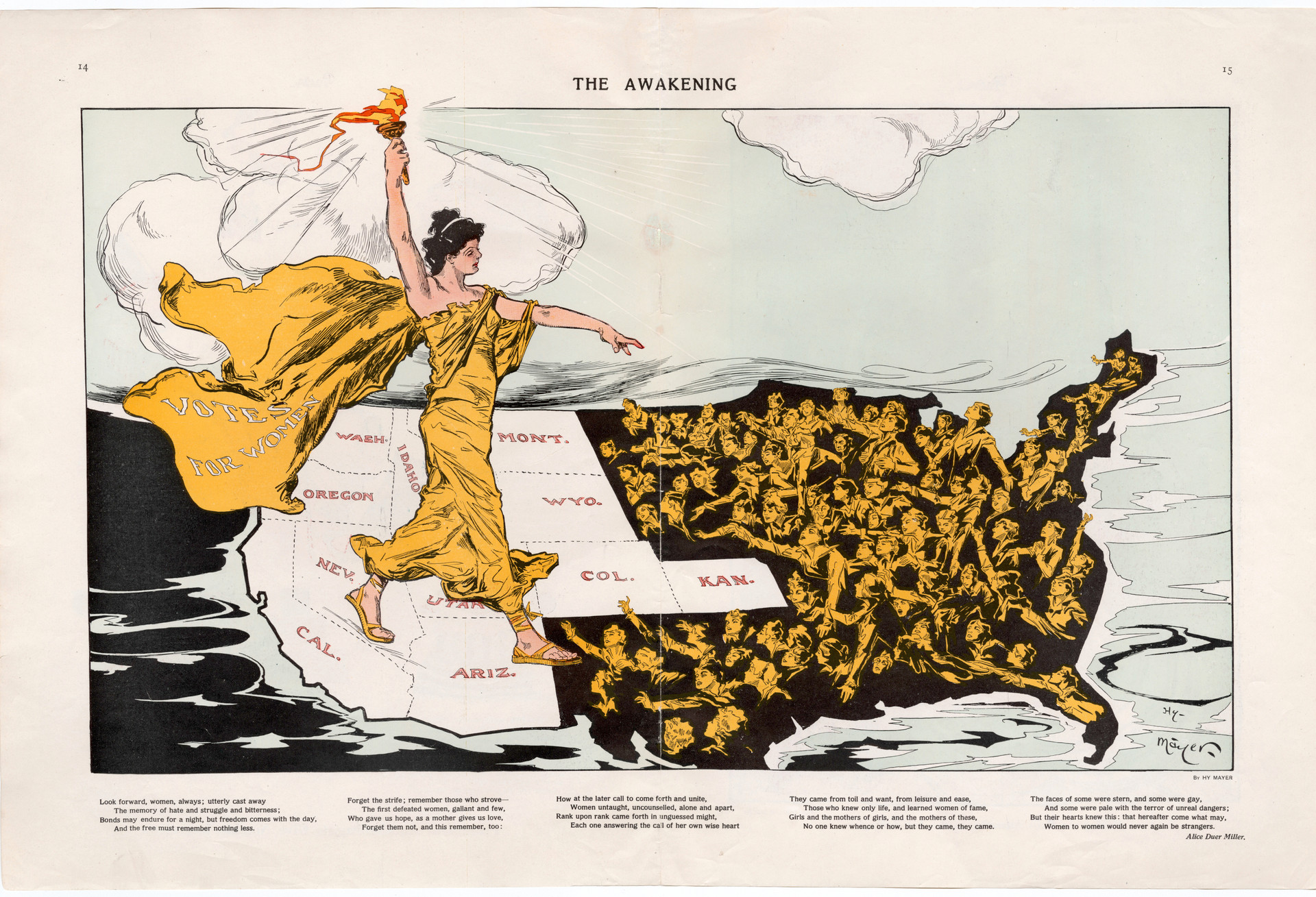 """""""The Awakening,"""" Hy Mayer, published in Puck February 20, 1915"""