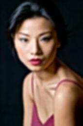 Lady wearing Vegan Red Lipstick