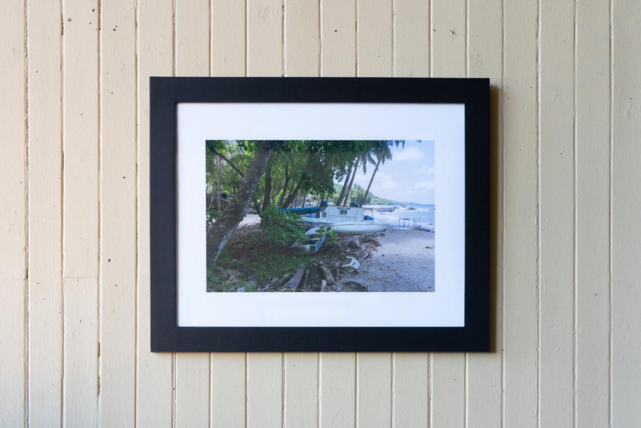 """Titre: Stationné sur la plage    Impression 14""""x18"""" sur papier 230 gsm    130.00$"""