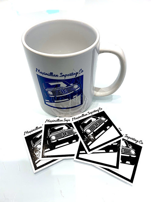 Coffee Mug w Sticker pack!