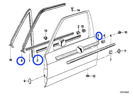 E30 Door seal kit!