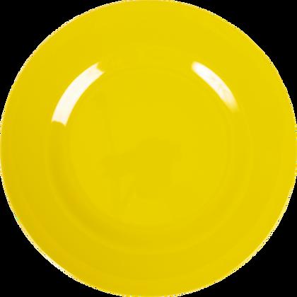 Melamine Round Dinner Plate in Yellow