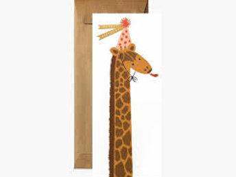 Birthday Giraffe No 10 Card