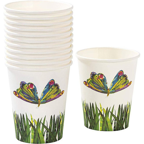 THE VERY HUNGRY CATERPILLAR PAPER CUP X 2 DESIGNS PK12