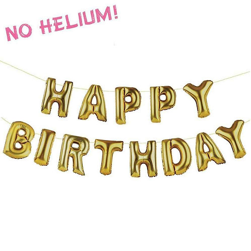 PARTY TIME HAPPY BIRTHDAY BALLOON BUNTING