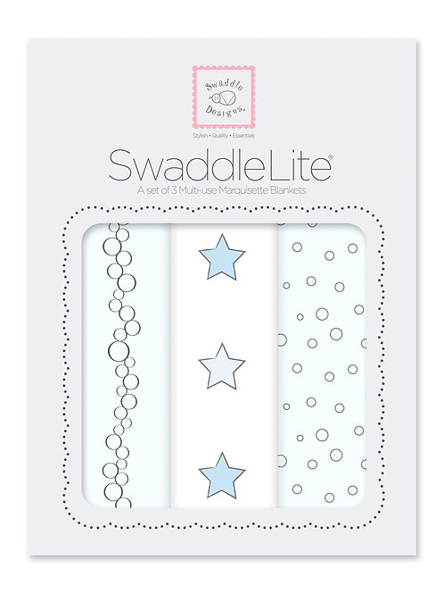 Swaddle Lite - Celebrate - Champagne Stars Bubble Dots - 3pcs