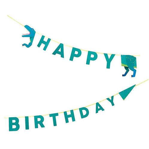 PARTY DINOSAURS HAPPY BIRTHDAY GARLAND 3.5M