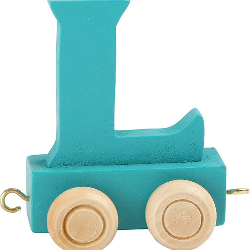 Colored wooden letter L