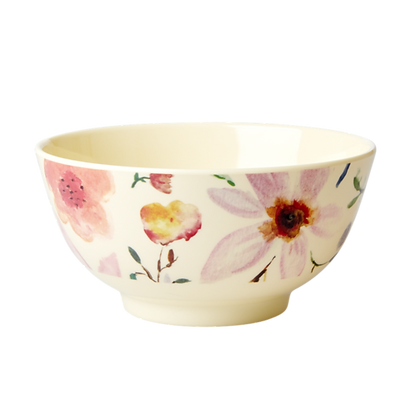 Melamine Bowl with Selmas Flower Print - Medium