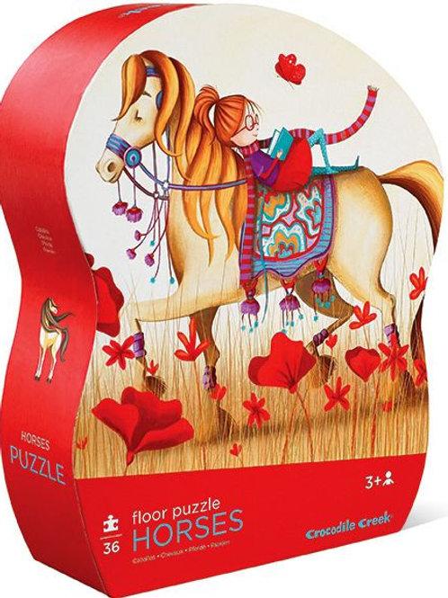 36-Pc Classic Floor Puzzles Horse