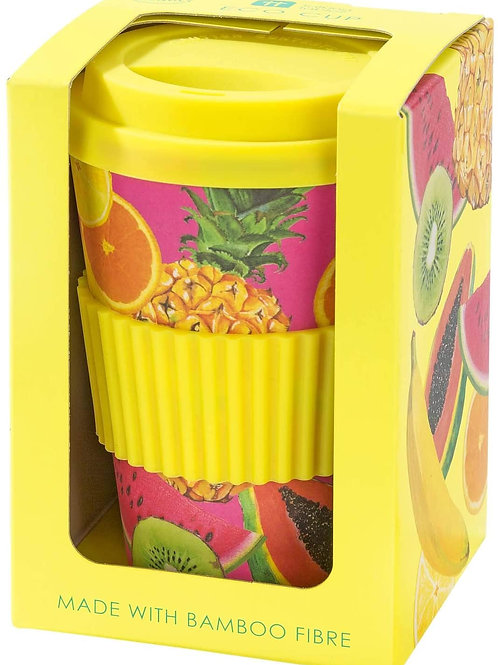 Tropical Fiesta Fruit Design Eco Cup, Multi-Colour