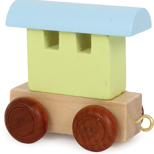 Letter train carriage green & petrol