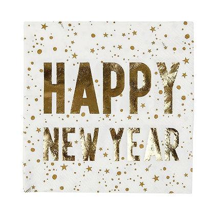 LUXE HAPPY NEW YEAR NAPKIN,