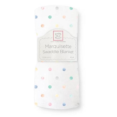 Marquisette Swaddle Blanket - Watercolor - Multi Dots - Multi Color