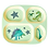 Thumbnail: Melamine Kids 4 Room Plate with Dino Print