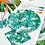 Thumbnail: TROPICAL FIESTA PALM 9 INCH ROUND PAPER PLATES 8PK