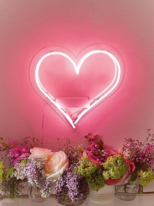 ILLUMINATE IT, PINK HEART SHAPED NEON LIGHT 30CM