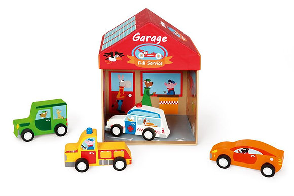 Scratch Preschool: PLAY BOX GARAGE 2-in-1