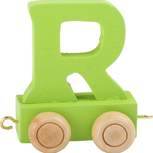Colored wooden letter R