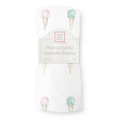 Marquisette Swaddle Blanket - Watercolor Ice Cream Cones - Multi-Color