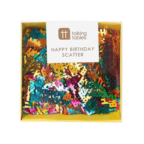 RAINBOW HAPPY BIRTHDAY FOIL SCATTER (22G)