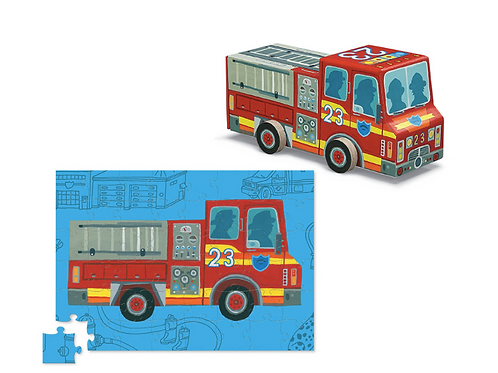 48-Pc Vehicle Puzzles Fire Truck