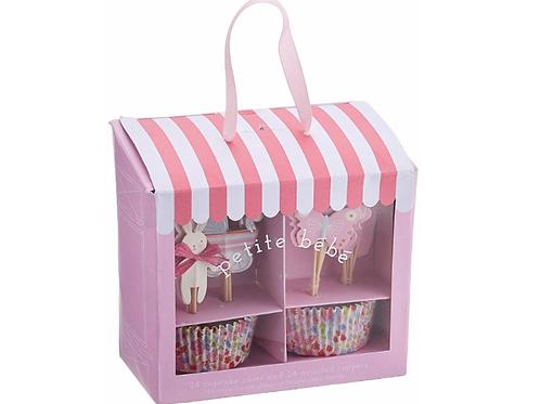 Cupcake Kits - Baby Shop Pink Cupcake Kit