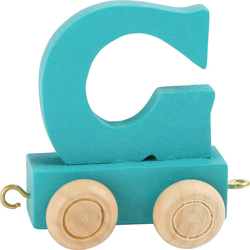 Colored wooden letter G