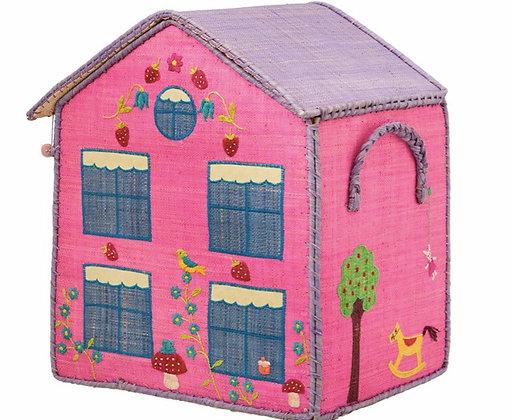 Rice Pink House Storage box