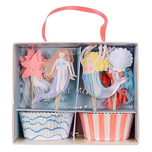 Cupcake Kits - Let's be mermaids