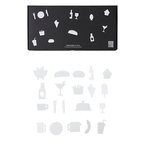 Party Icons for Design Letters Board-21 pieces(Black)