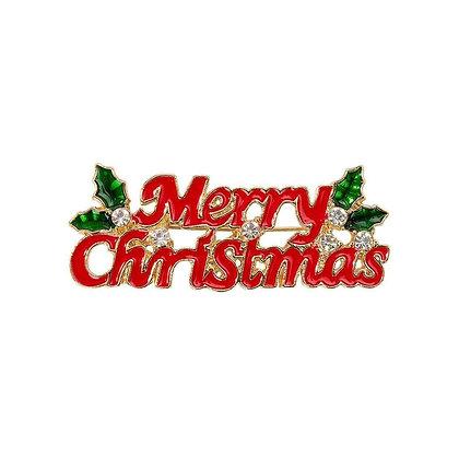 CHRISTMAS ENAMEL BADGE