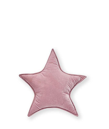Velvet Star Cushion-Pink 25cm