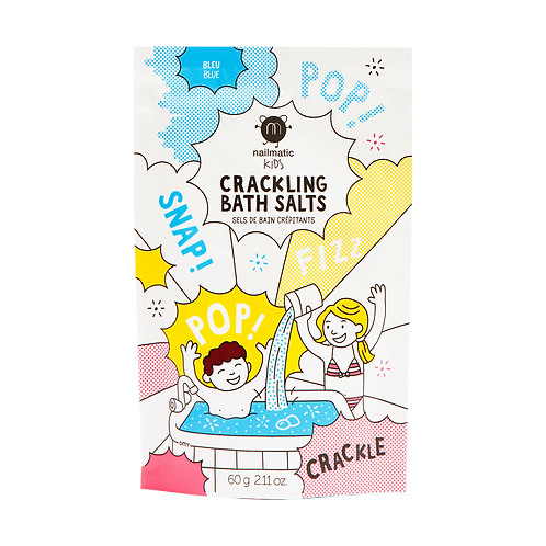 Blue crackling bath salts