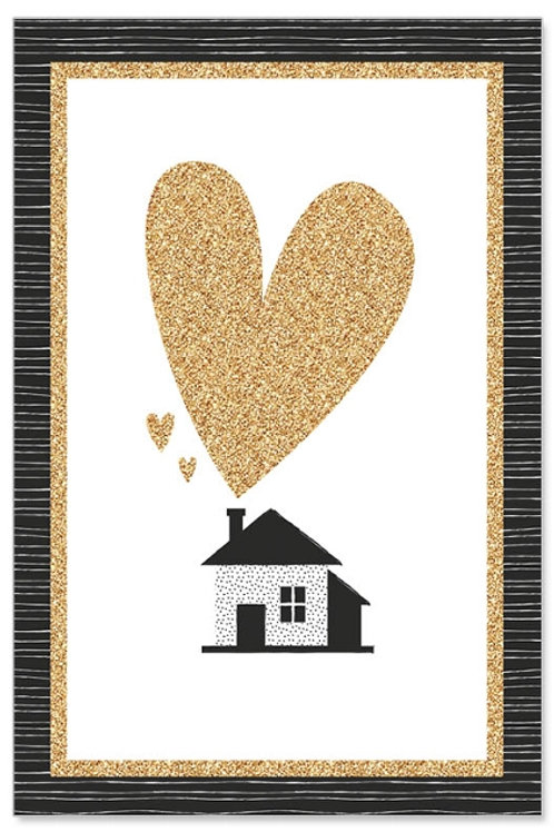 Greeting Card- Golden House