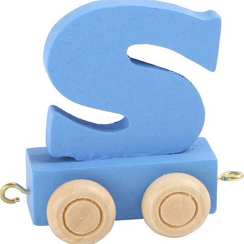 colored wooden letter S