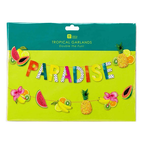TROPICAL FIESTA PARADISE FRUIT DOUBLE LAYERED GARLAND, DOUBLE GARLAND PACK