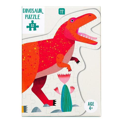 Party Dinosaur Tyrannosaurus Rex Shaped Puzzle 52 Pieces