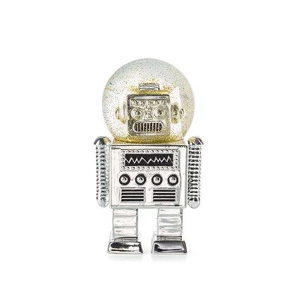 Summerglobe - The Robot / Snowglobe/ Silver 13,5 x 5,2 cm