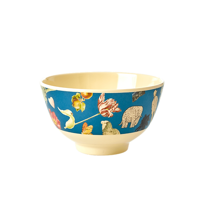Melamine Bowl with Blue Art Print - Small - Jo�lle Wehkamp