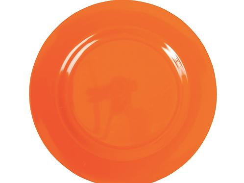 Melamine Round Side Plate In Orange