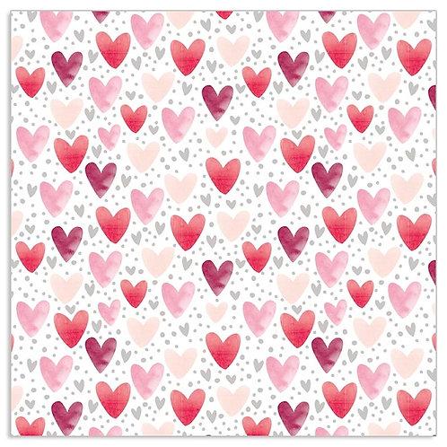 Pink Little Hearts - Napkin