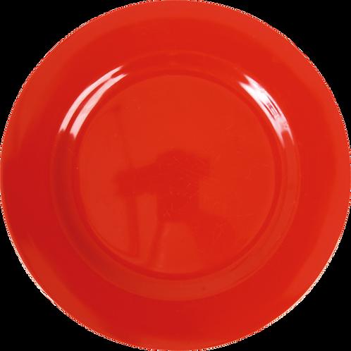 Melamine Round Dinner Plate in Red
